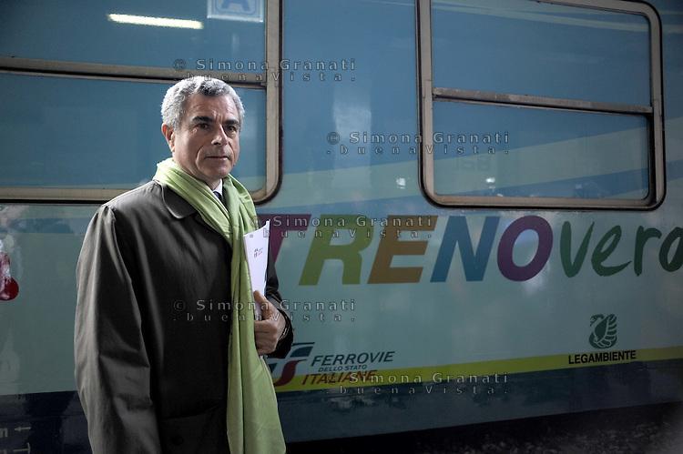 Roma, 6 Marzo 2012.Stazione Termini.Presentazione della XXIII edizione del Treno Verde di Legambiente. L'amministratore delegato di Trenitalia Mauro Moretti