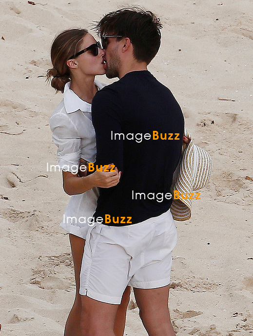 Olivia Palermo enjoys the beach in Saint Barths, while vacationing with fiance Johannes Huebl.<br /> The couple seemed to be very much in love after announcing their engagement on an instagram video on January 1, 2014.<br /> Saint Barths, January 3, 2014.