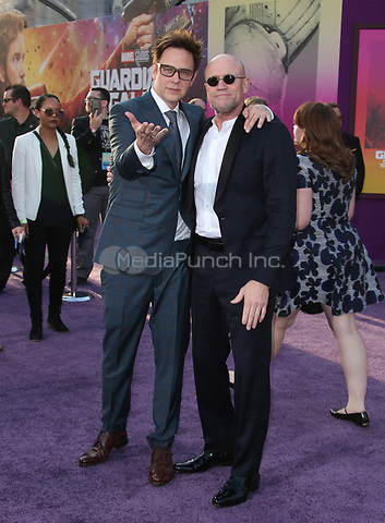"HOLLYWOOD, CA - April 19: James Gunn, Michael Rooker, At Premiere Of Disney And Marvel's ""Guardians Of The Galaxy Vol. 2"" At The Dolby Theatre  In California on April 19, 2017. Credit: FS/MediaPunch"