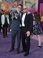 """HOLLYWOOD, CA - April 19: James Gunn, Michael Rooker, At Premiere Of Disney And Marvel's """"Guardians Of The Galaxy Vol. 2"""" At The Dolby Theatre  In California on April 19, 2017. Credit: FS/MediaPunch"""