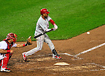 27 September 2010: Philadelphia Phillies' shortstop Wilson Valdez in action against the Washington Nationals at Nationals Park in Washington, DC. With an 8-0 shutout win, the Philles clinched the National League Eastern Division Title. Mandatory Credit: Ed Wolfstein Photo