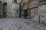 The Church of the Holy Sepulchre in Jerusalem's old city, Israel. The church sits on the site where Jesus Christ is believed to have been crucified and buried.