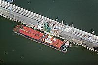 aerial photograph Chevron Richmond Long Wharf, California
