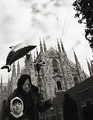 flying,fish,Duomo square,orental people, Street Photograhy, Italy, Milan, Milano