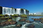 The popular toutistic destination of Iguazú waterfalls, Argentina/Brazil.