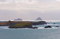 View on the Great Skellig Islands from Valentia Island, Ring of Kerry, Ireland / sk028 I love the Skelligs,