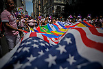 USA-NewYork-Revellers take part in the Gay Pride Parade in Manhattan