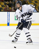 Blake Kessel (UNH - 20) - The Merrimack College Warriors defeated the University of New Hampshire Wildcats 4-1 (EN) in their Hockey East Semi-Final on Friday, March 18, 2011, at TD Garden in Boston, Massachusetts.