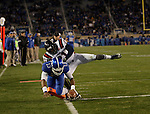 Kentucky Wildcats quarterback Jalen Whitlow (13) makes a touchdown during the first half of the UK Football game v. Samford at Commonwealth Stadium in Lexington, Ky., on Saturday, November 17, 2012. Photo by Genevieve Adams | Staff