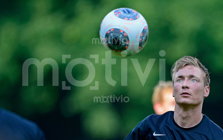 Fussball, 2. Bundesliga, Saison 2013/14, SG Dynamo Dresden, Trainingsauftakt, Donnerstag (20.06.2013).  Dresdens Neuzugang Christoph Menz.