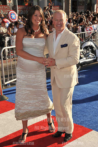 """Neal McDonough & wife Ruve McDonough at the premiere of his new movie """"Captain America: The First Avenger"""" at the El Capitan Theatre, Hollywood..July 19, 2011  Los Angeles, CA.Picture: Paul Smith / Featureflash"""