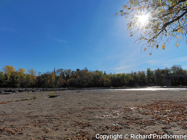Along Ouareau river in Saint-Liguori, Quebec