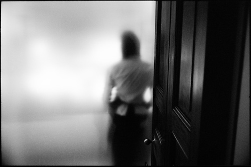 Waitress behind frosted glass, Ickworth Hall by Paul Cooklin