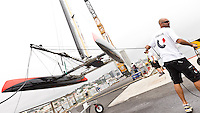 PORTUGAL, Cascais. 6th August 2011. America's Cup World Series. Day 1. GREEN COMM RACING.