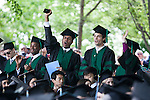 05/19/2013 - Medford/Somerville, Mass. - Medical students celebrate after being recognized during Tufts University's 157th Commencement  on May 19, 2013. (Kelvin Ma/Tufts University)