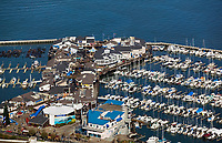 aerial photograph Pier 39 retail and tourist area, San Francisco California
