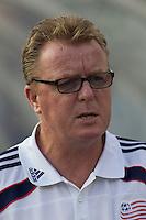 New England Revolution head coach Steve Nicol. The New England Revolution defeated Puebla FC in penalty kicks, in SuperLiga 2010 semifinal at Gillette Stadium on August 4, 2010.