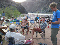 COURTESY PHOTO ROBERT PEKEL<br /> Rafters enjoy their riverside camp in the Grand Canyon.