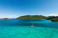 Aerial view of Maho and Francis Bays<br /> Virgin Islands National Park<br /> St. John<br /> U.S. Virgin Islands