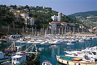 Italy, Liguria, Italian Riviera, Bordighera: Yacht harbour