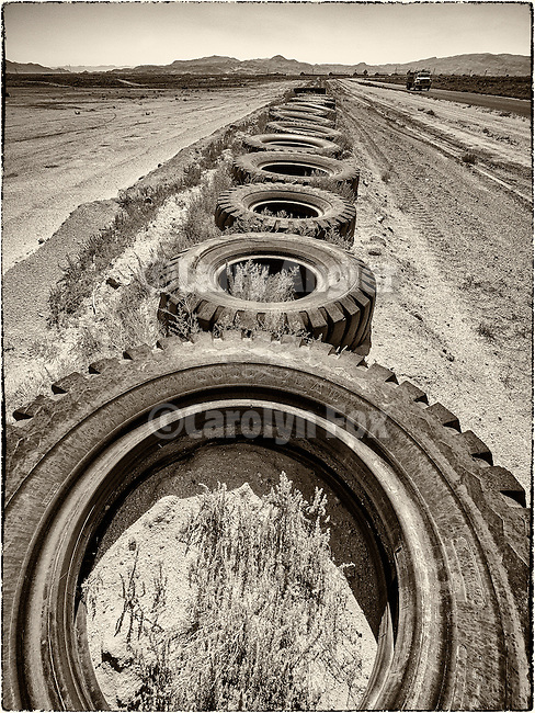 Big rubber tires, Hawthorne Speedway (racing track), Hawthorne, Nevada