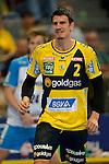 GER - Mannheim, Germany, September 23: During the DKB Handball Bundesliga match between Rhein-Neckar Loewen (yellow) and TVB 1898 Stuttgart (white) on September 23, 2015 at SAP Arena in Mannheim, Germany. Final score 31-20 (19-8) .  Andy Schmid #2 of Rhein-Neckar Loewen<br /> <br /> Foto &copy; PIX-Sportfotos *** Foto ist honorarpflichtig! *** Auf Anfrage in hoeherer Qualitaet/Aufloesung. Belegexemplar erbeten. Veroeffentlichung ausschliesslich fuer journalistisch-publizistische Zwecke. For editorial use only.