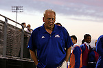 05 October 2015: Hofstra head coach Richard Nuttal (ENG). The Duke University Blue Devils hosted the Hofstra University Pride at Koskinen Stadium in Durham, NC in a 2015 NCAA Division I Men's Soccer match. Duke won the game 3-2 in overtime.