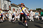 Thaxted Morris dancing. The Thaxted Morris Ring. Essex England 2006