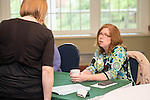Melissa Van Meter, Associate Director of Operations for the Scripps College of Communications, at The Campus Communicator Network Expo in Nelson Commons on Wednesday, May 11, 2016. © Ohio University / Photo by Kaitlin Owens