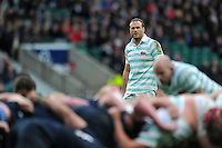 Jamie Roberts of Cambridge University watches a scrum. The Varsity Match between Oxford University and Cambridge University on December 10, 2015 at Twickenham Stadium in London, England. Photo by: Patrick Khachfe / Onside Images
