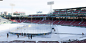 -  - The participating teams in Hockey East's first doubleheader during Frozen Fenway practiced on January 3, 2014 at Fenway Park in Boston, Massachusetts.