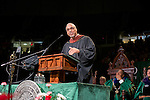 Distinguished Professor Charles Smith gives the fall commencement address to the class of 2015. Photo by Ben Siegel