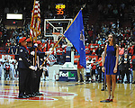 "Meagan Kennedy sings the national anthem at Ole Miss vs. Georgia at the C.M. ""Tad"" Smith Coliseum on Saturday, February 16, 2013."