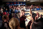 14 APR 2012: Maria Paula Vilas (05) of University of Maryland Eastern Shore celebrates with her teammates  during the Division I Womens Bowling Championship against Fairleigh Dickson University held at Freeway Lanes in Wickliffe, OH.  The University of Maryland Eastern Shore defeated Fairleigh Dickinson 4-2 to win the national title.  Jason Miller/NCAA Photos
