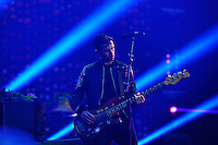 LONDON, ENGLAND - JUNE 16: Guy Berryman of 'Coldplay' performing at Wembley Stadium on June 16, 2016 in London, England.<br /> CAP/MAR<br /> &copy;MAR/Capital Pictures /MediaPunch ***NORTH AND SOUTH AMERICAS ONLY***