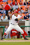 12 June 2006: Nick Johnson, first baseman for the Washington Nationals, stands ready at the plate during a game against the Colorado Rockies at RFK Stadium, in Washington, DC. The Nationals fell to the Rockies 4-3 in the first game of the four game series...Mandatory Photo Credit: Ed Wolfstein Photo..