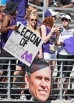 Washington Husky fans before their game against the  Eastern Washington Eagles' at Husky Stadium September 6, 2014 in Seattle. Huskies out lasted the Eagles in a high powered shootout 59-52 in the third highest scoring game in Husky history. ©2014. Jim Bryant  Photo. All Rights Reserved