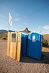 Rt. 66 outhouse at the old restored Cool Springs road house and gas station along historic Route 66  east of Sitgreaves Summit in western Arizona