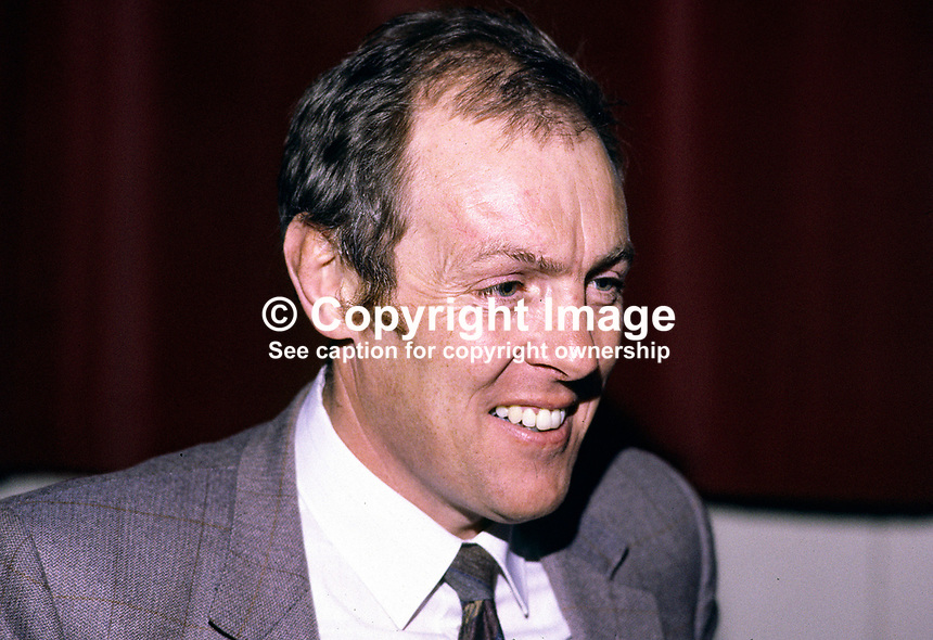 Raymond Ferguson, Enniskillen, Co Fermanagh - Ulster Unionist Assemblyman, Fermanagh & S Tyrone. Solicitor. Ref: 198501006..Copyright Image from Victor Patterson, 54 Dorchester Park, Belfast, UK, BT9 6RJ..Tel: +44 28 9066 1296.Mob: +44 7802 353836.Voicemail +44 20 8816 7153.Skype: victorpattersonbelfast.Email: victorpatterson@mac.com.Email: victorpatterson@ireland.com (back-up)..IMPORTANT: If you wish to use this image or any other of my images please go to www.victorpatterson.com and click on the Terms & Conditions. Then contact me by email or phone with the reference number(s) of the image(s) concerned.