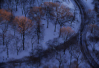 Frederick Law Olmsted's Central Park after a winter snow.