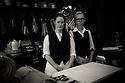 Hastings, UK. 29.09.2012. Shop assistants, Hendy Home Store, Hastings, UK. Photo credit: Jane Hobson.