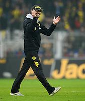 FUSSBALL   1. BUNDESLIGA   SAISON 2011/2012   26. SPIELTAG Borussia Dortmund - SV Werder Bremen               17.03.2012 Trainer Juergen Klopp (Borussia Dortmund) freut sich nach dem Abpfiff
