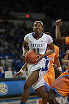 UK center DeNesha Stallworth goes to shoot a layup during the first half of the UK Hoops vs. Tennessee at Memorial Coliseum in Lexington, Ky., on Sunday, March 3, 2013. Photo by Emily Wuetcher | Staff....