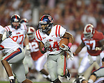 Ole Miss running back Brandon Bolden (34) runs the ball at Bryant-Denny Stadium in Tuscaloosa, Ala.  on Saturday, October 16, 2010. Alabama won 23-10.