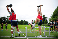 Chris Cook of Bath Rugby in action. Bath Rugby pre-season skills training on June 21, 2016 at Farleigh House in Bath, England. Photo by: Patrick Khachfe / Onside Images