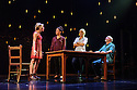 "Frantic Assembly presents ""Things I Know to be True"" at the Lyric Hammersmith. Picture shows: Kirsty Oswald (Rosie Price), Natalie Casey (Pip Price), Imogen Stubbs (Fran Price), Ewan Stewart (Bob Price)"
