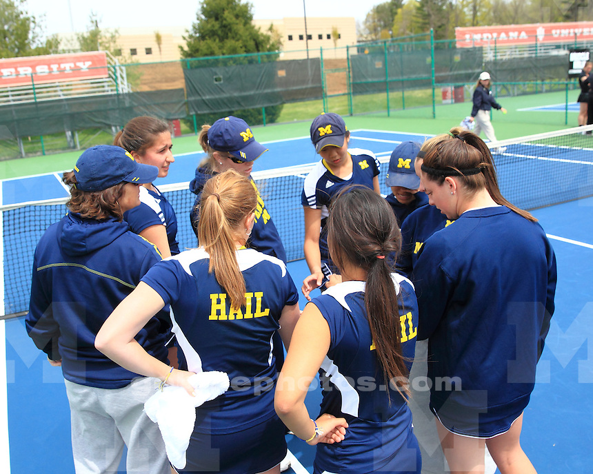 The University of Michigan women's tennis team beat Iowa, 4-2, in the Big Ten quarterfinals at the IU Varsity Tennis Courts in Bloomington, Ind., on April 26, 2013.