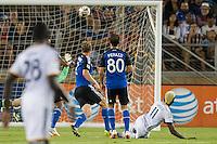 STANFORD, CA - June 28, 2014: The San Jose Earthquakes vs Los Angeles Galaxy  match in Stanford Stadium in Palo Alto, CA. Final score SJ Earthquakes 0, LA Galaxy 1.