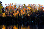 Fall colors are viewed from a vacation home in northern Wisconsin. ..