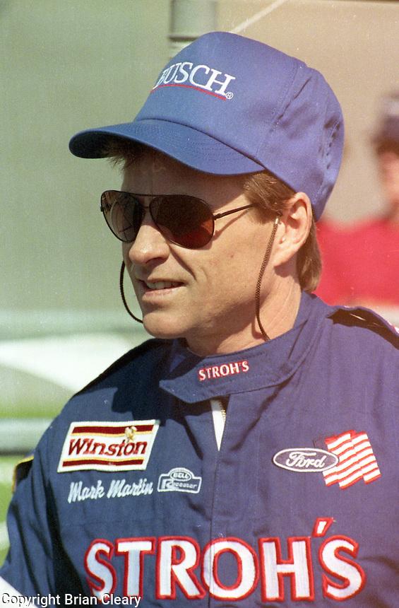 Mark Martin Daytona 500 at Daytona International Speedway on February 19, 1989.  (Photo by Brian Cleary/www.bcpix.xom)